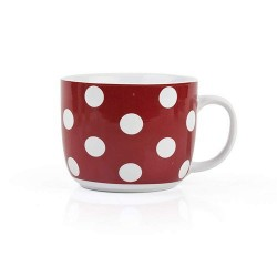 Mug, Red Spotted, 730 ml.