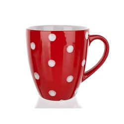Mug, Red Spotted, 400 ml.