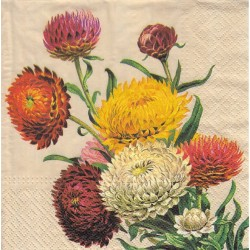 Paper Napkins - Strawflowers