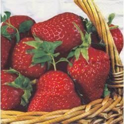 Servietter - Strawberry basket