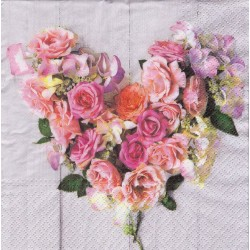 Paper Napkins - Rose heart