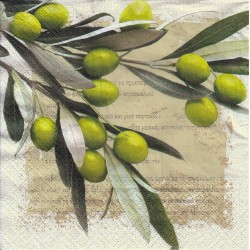 Paper Napkins - Greek olives
