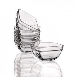 Glasskål, 11x11 cm, 6 stk