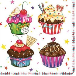 Servietter - Cupcakes