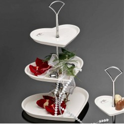 Cake Stand - Heart, 3 Layer