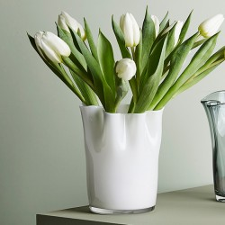 Glass Vase, White