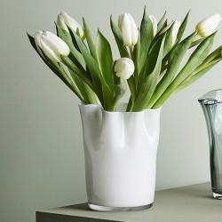 Tulipanvase, hvid