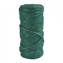 Jute string, green, 100 g.