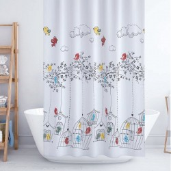 Shower Curtain - Birds,...