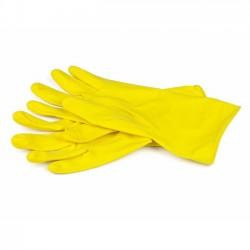 Latex Gloves, XL, Yellow