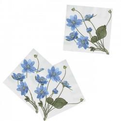Paper Napkins - Blue Anemone